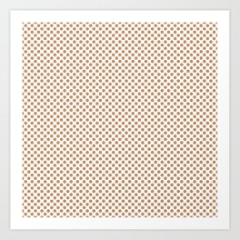 Butterum Polka Dots Art Print