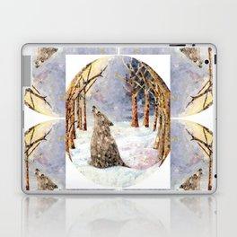 Wolf Oval Pattern Laptop & iPad Skin