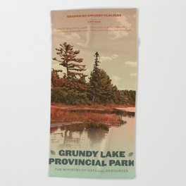 Grundy Lake Provincial Park Poster Beach Towel
