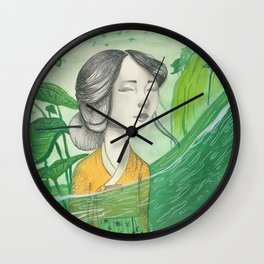The Lonely Traveler II Wall Clock