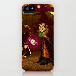 Witch and Wizard of Halloween iPhone Case