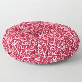 Candy cane flower pattern 2a Floor Pillow