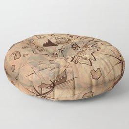 Pirate Map Floor Pillow