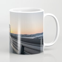 Valentine's bridge sunset Coffee Mug