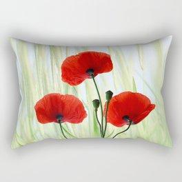 Poppies red 008 Rectangular Pillow