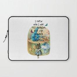 Alice In Wonderland Quote Laptop Sleeve