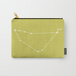 Capricorn Zodiac Constellation - Vibrant Green Carry-All Pouch
