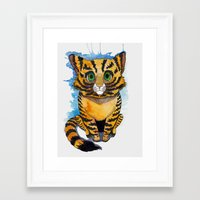kitten Framed Art Prints featuring Kitten by SilviaGancheva