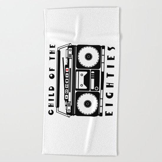 Eighties Music Beach Towel