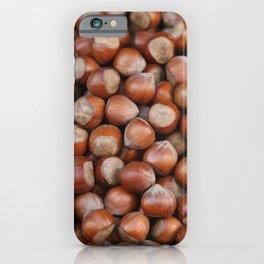 Hazelnuts Illustration iPhone Case