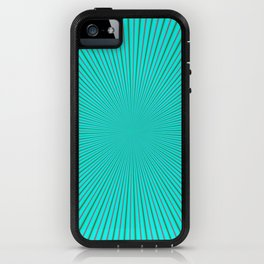 Rays in Turquoise Red and Green iPhone Case