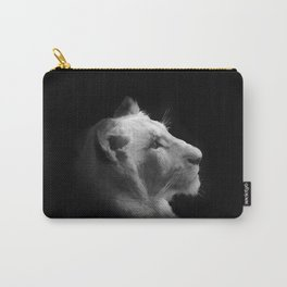 Wild White Lion Portrait Carry-All Pouch