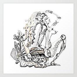 A woman as sign Virgo Art Print