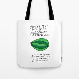 Seedless Watermelons Tote Bag