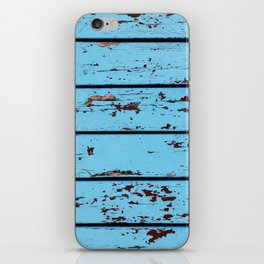 Blue Wooden Planks iPhone Skin