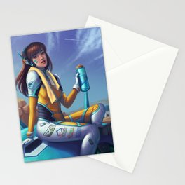 D.Va Taking a Break Stationery Cards
