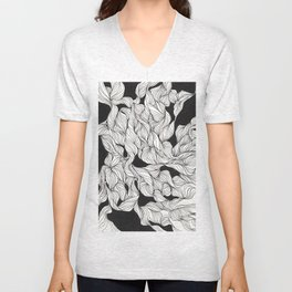 Abstract curlicues Unisex V-Neck