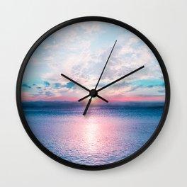 Pastel vibes 26 Wall Clock