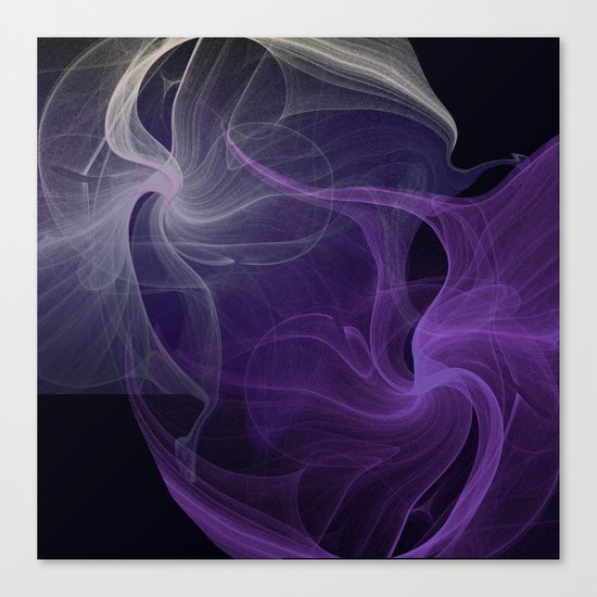 Fractal Abstract Dark Purple Canvas Print