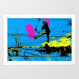 Tailgating - Stunt Scooter Tricks Art Print