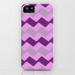 Purple Zig Zag Pattern iPhone Case