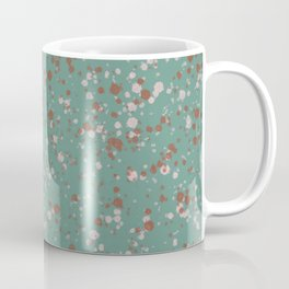Jade with Terracotta + Pink Splatter Coffee Mug