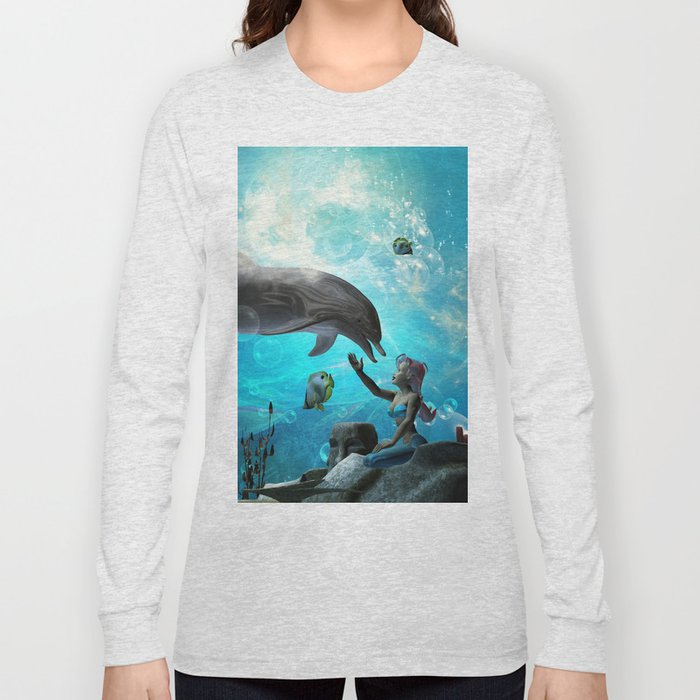 Cute mermaid  Long Sleeve T-shirt