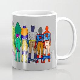 Superhero Butts - Power Couple on Grey Coffee Mug