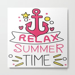 Relax Summer Time Metal Print