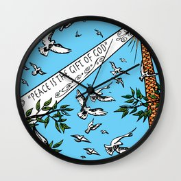Peace is the Gift of God Wall Clock