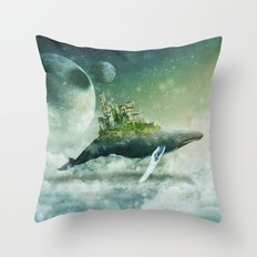 Flying kingdoms Throw Pillow
