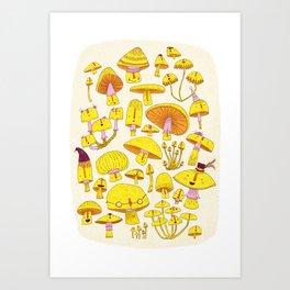 FUN-Gi Mushrooms  Art Print