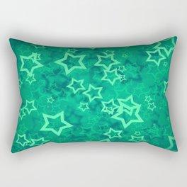 Green asterisks Rectangular Pillow