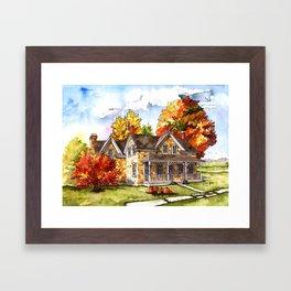 October on the Farm Framed Art Print