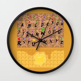 Upsidedown Waffle Wall Wall Clock