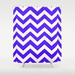 Han purple - blue color - Zigzag Chevron Pattern Shower Curtain