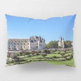 Chateau de Chenonceau and garden in the Loire Valley - France Pillow Sham