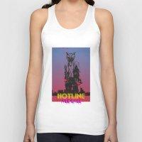 hotline miami Tank Tops featuring HOTLINE MIAMI by Bertrand Nadal
