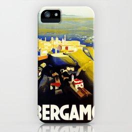 1920s Bergamo Italy travel iPhone Case