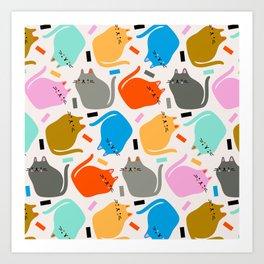 Confetti Cats Art Print