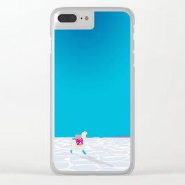Llama on the Bolivia Salt Flats, Salar de Uyuni Clear iPhone Case