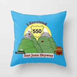 I Survived HWY 550 Durango to Silverton Throw Pillow