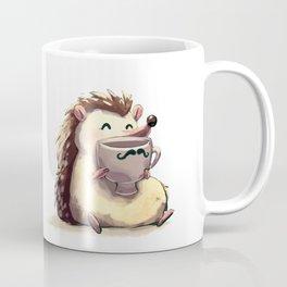 Hedgehog Drinking Coffee Coffee Mug