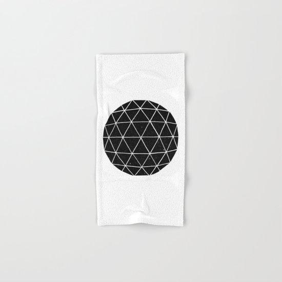 Dark Geodesic Hand & Bath Towel