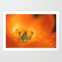Orange Star Art Print