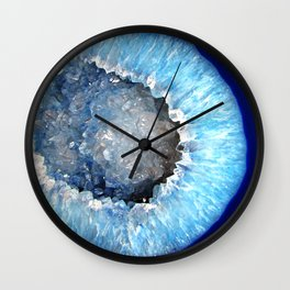 Blue Crystal Geode Wall Clock