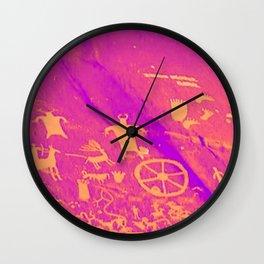 PETROGLYPHS Wall Clock