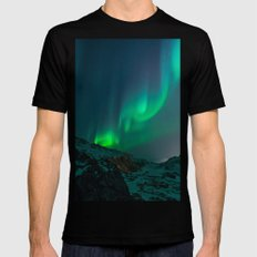 Aurora 2X-LARGE Black Mens Fitted Tee