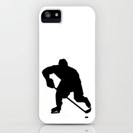 Ice hockey player iPhone Case