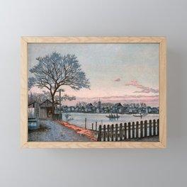 Inoue Yasuji - Makura Bridge Framed Mini Art Print